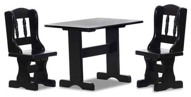 Awe Inspiring Everett Childrens Table With Chairs In Black Complete Home Design Collection Barbaintelli Responsecom