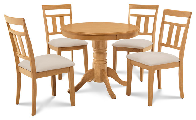 Brookline 5 piece small kitchen table and chairs set for Traditional kitchen table sets