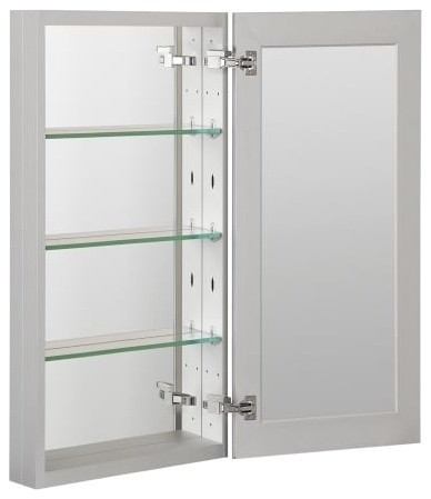Foremost Mmc1536 Medicine Cabinet Bathroom Storage, Aluminum.