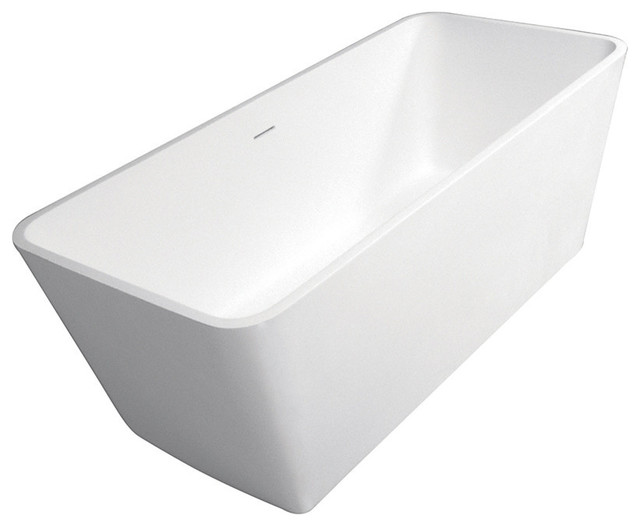 Stone Freestanding Rectangular Tub W