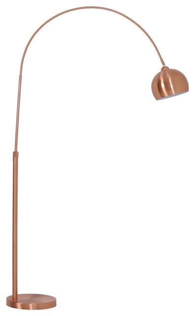 Forsyth Arc Style Rose Gold Floor Lamp