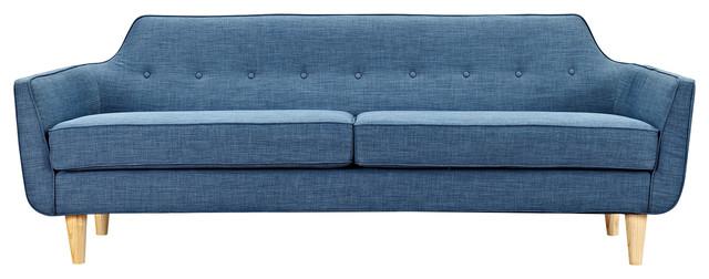 Tremendous Stone Blue Agna Sofa Natural Leg Finish Gamerscity Chair Design For Home Gamerscityorg