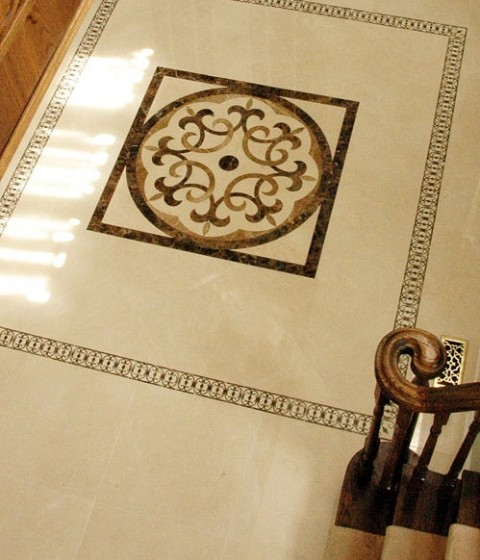 Foyer Medallion Designs : Medallion entryway traditional toronto by tile
