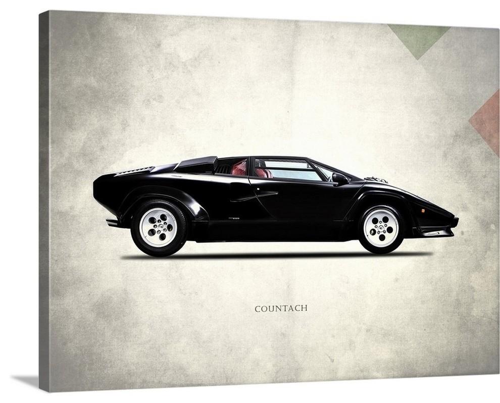 Lamborghini Countach 5000 S 19 Wrapped Canvas Art Print 24 X18