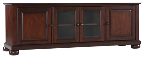 "Alexandria 60"" Low Profile Tv Stand, Vintage Mahogany."