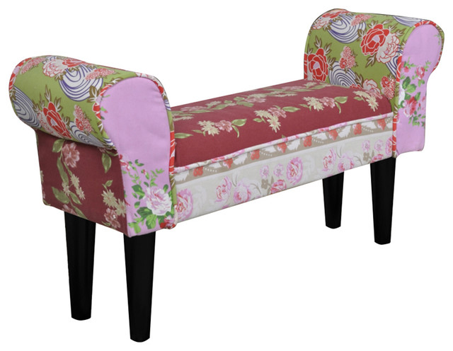 Patchwork Bench Floral Style.