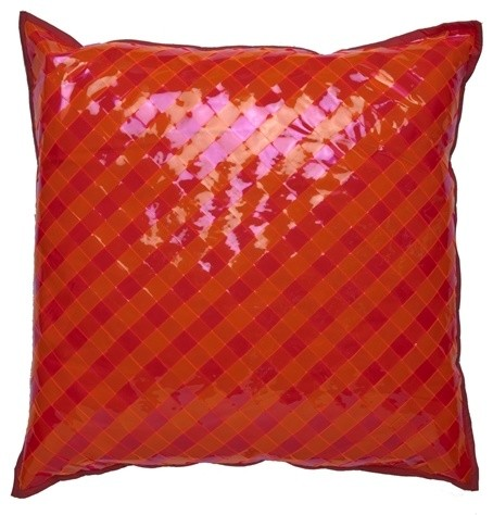 Vinyl Throw Pillows : Cloud9 Design 2-Toned Interwoven Vinyl Pillow, 20
