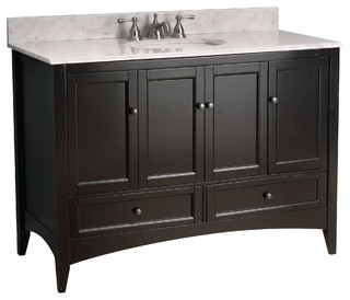 Wonderful Includes White Carrera Marble Countertop With Backsplash And Undermount Oval Sink Faucet Not Included Two Functional Drawers Four Functional Doors 8 In Widespread Three Hole Faucet Mount 12 Stage Wood Preparation Sanding Painting