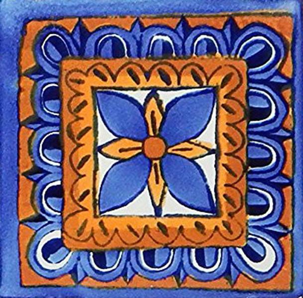 6 x6 mexican talavera handmade tiles set of 40
