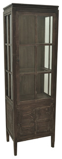 Grand Junction Distressed Finish Tall Cabinet 21.5x15x67.75