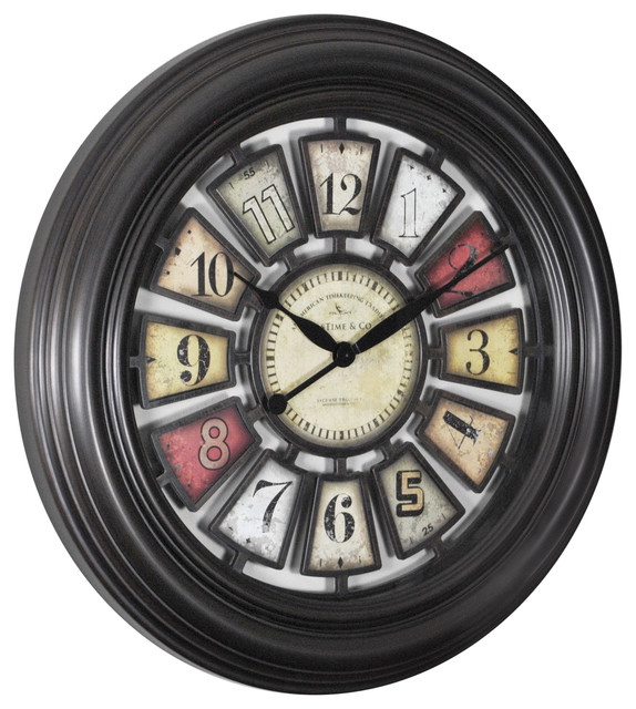 Chic Wall Clock Traditional Clocks By Firstime Manufactory