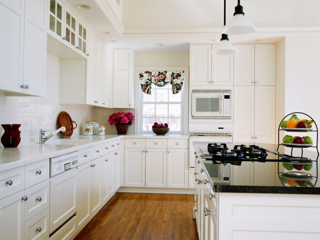 white shaker kitchen cabinets home design - traditional - columbus