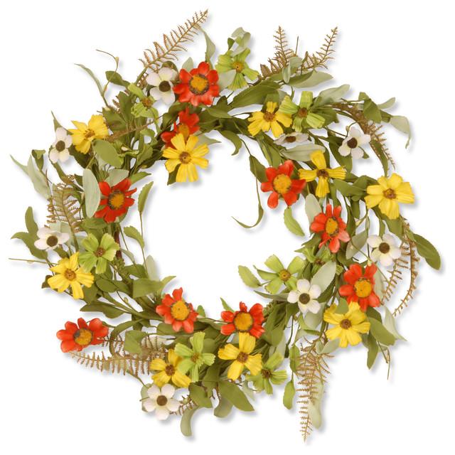"""20"""" Garden Accents Sunflower Wreath"""