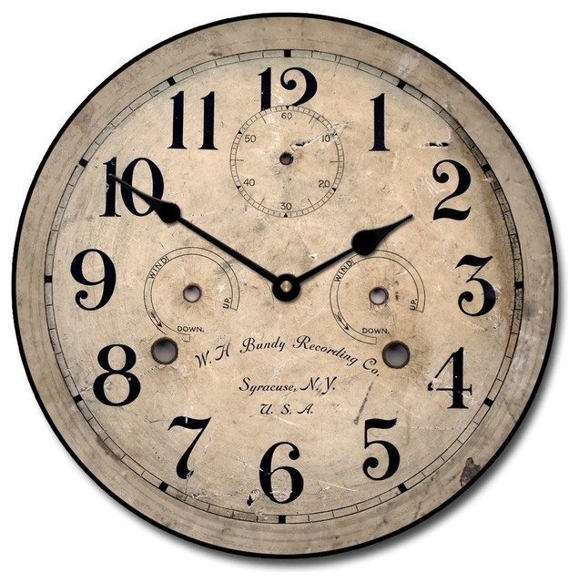 Antique Contour Wall Clock Farmhouse Wall Clocks by FirsTime