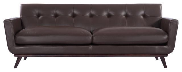 Check Price Jackie Midcentury Modern Classic Sofa, Aniline Leather ...