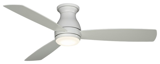 "Fanimation Hugh 52"" Matte White Ceiling Fan W/ 3 Blades - Fps8355mww."