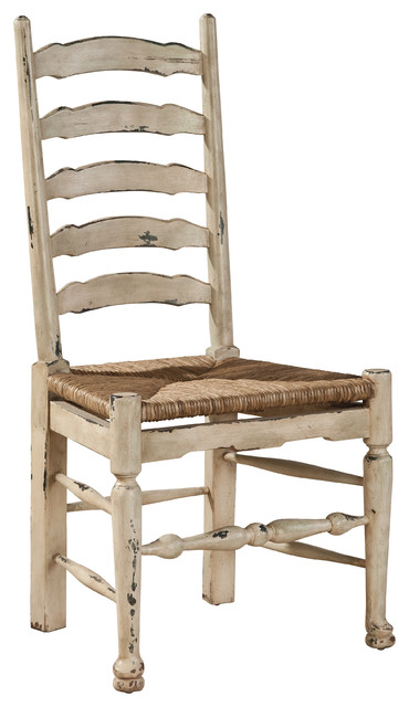 Provincial Ladderback Side Chair, Set Of 2.