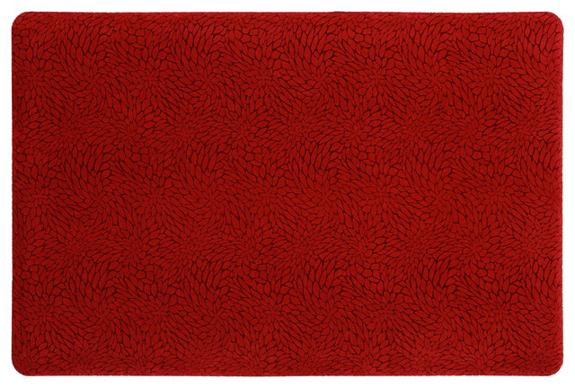"Mohawk Home Rejuventation Mat Rejuvenation Comfort Petals-Red, 1&x27; 6""x2&x27; 6""."