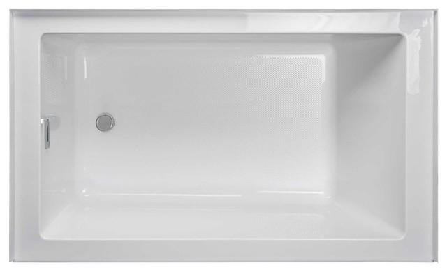 Jacuzzi Lns6030br Linea 60 X30 Acrylic Soaking Bathtub White