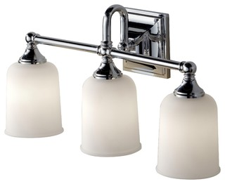 Bathroom Vanity Lights Traditional : Feiss VS27003 Harvard 3 Light Bathroom Vanity Light, Chrome - Traditional - Bathroom Vanity ...