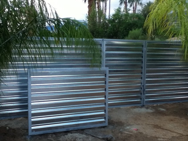 Metal Fence Palm Springs Style