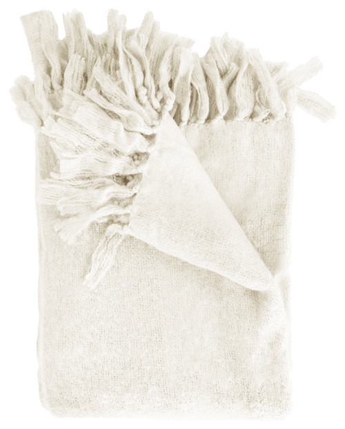 Liz Throw Blanket, Cream