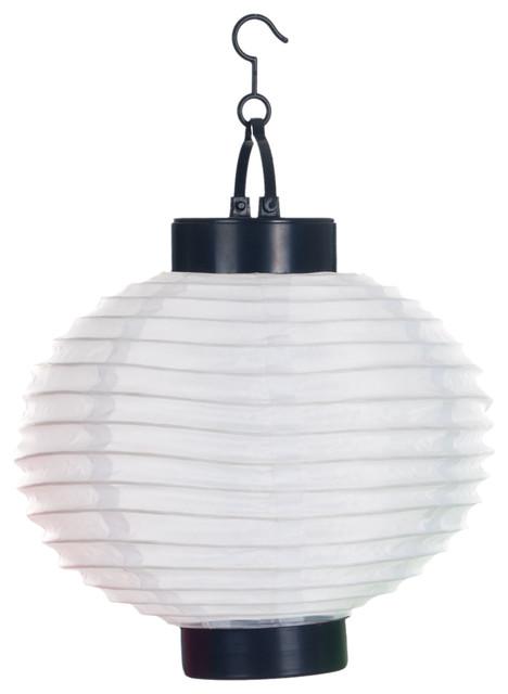 Outdoor Solar Led Chinese Lanterns, Set Of 4, White.
