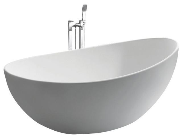 ADM Oval Freestanding Bathtub, White, 63\