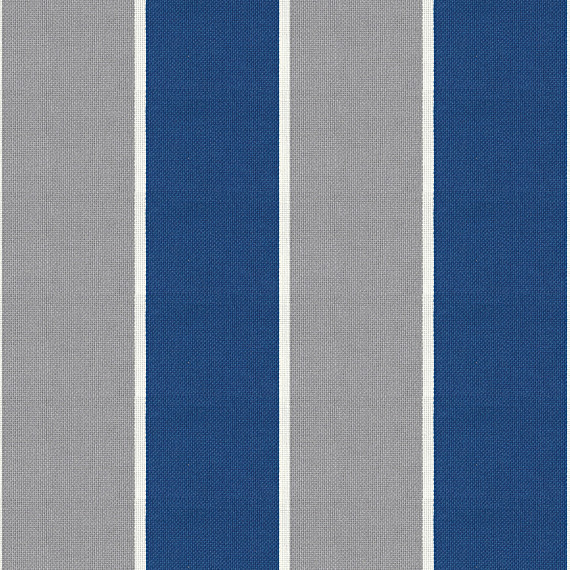 Blue and Gray Awning Stripe Outdoor Fabric - View in Your Room ...