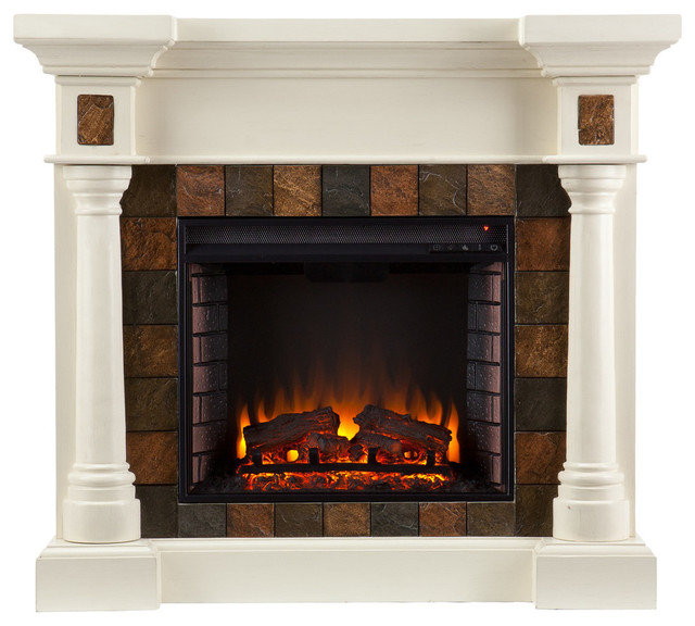 Xerick Corner Convertible Infrared Electric Fireplace