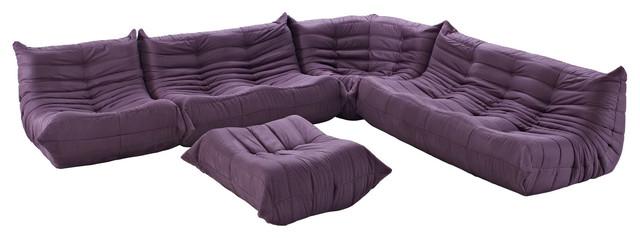 Modway Eei 558 Prp Waverunner Sofa Set Purple