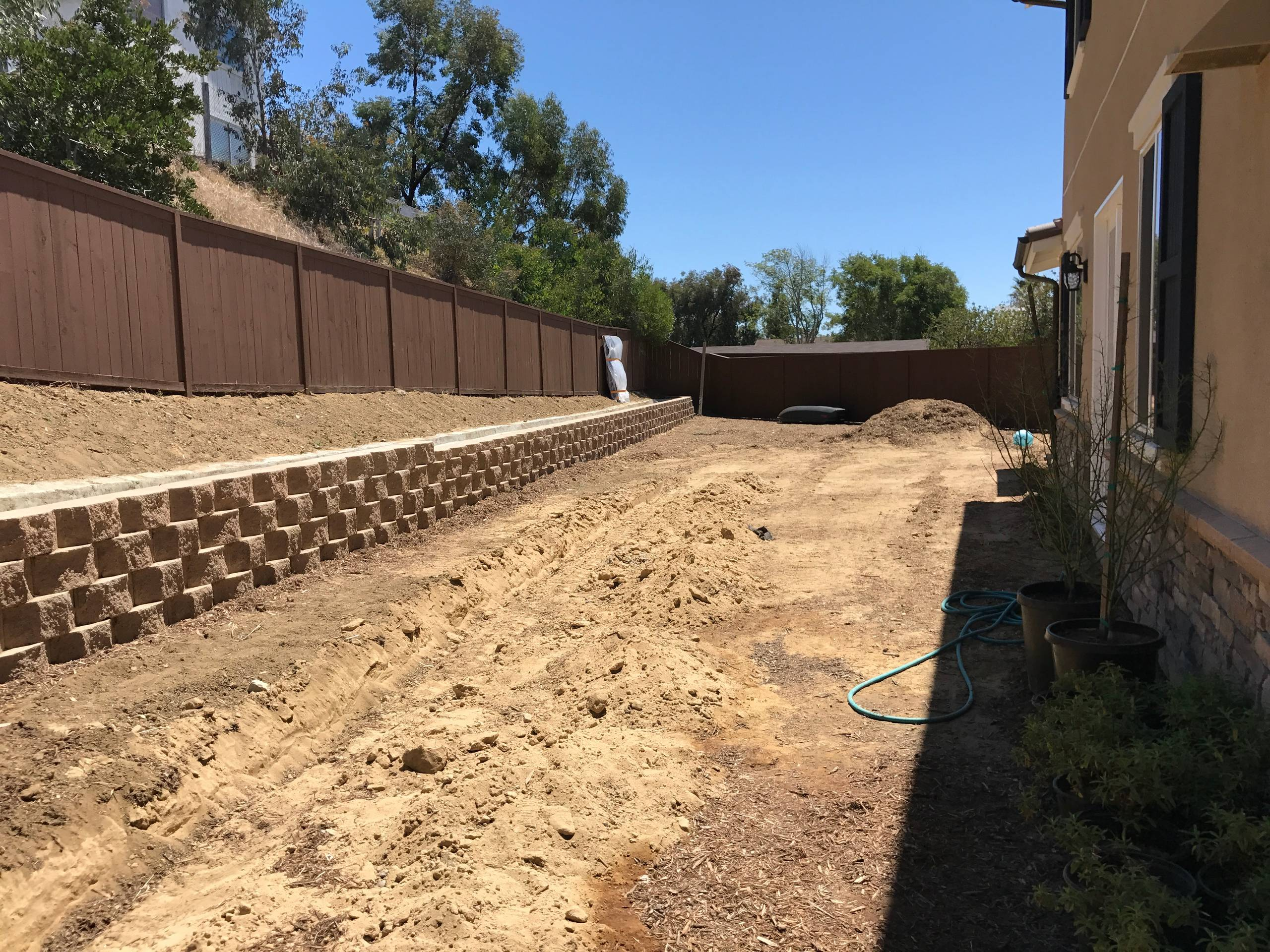 Grading and Trenching for Drainage