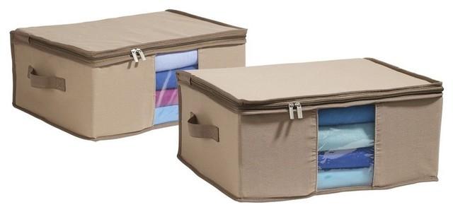 Canvas Storage Bag, Set Of 2.