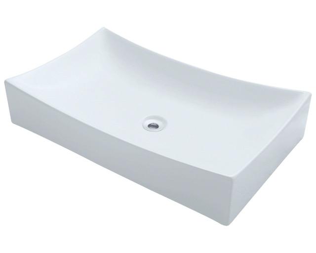Polaris P033vw White Porcelain Vessel Sink.