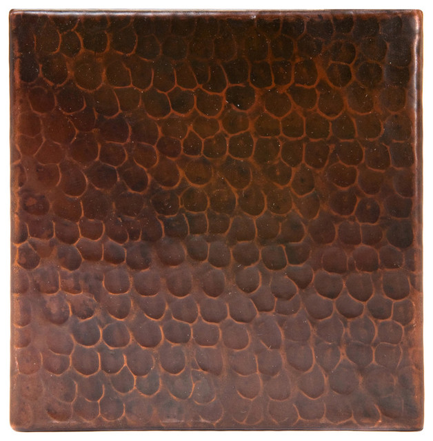 6 X6 Hammered Copper Tile Rustic