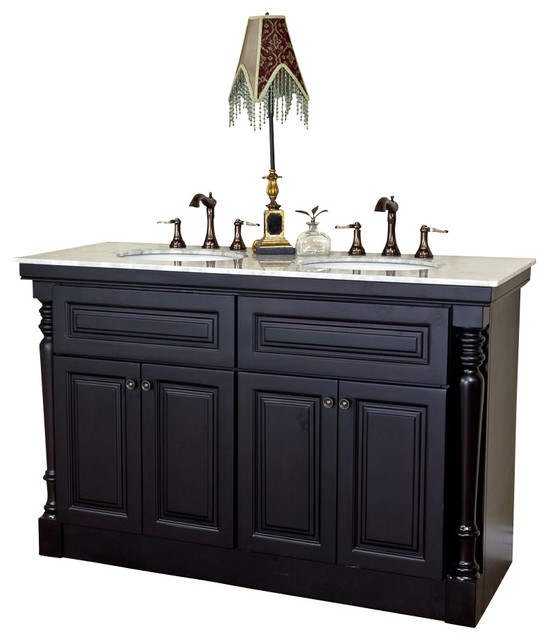 55 double sink bathroom vanity bellaterra 55 quot sink vanity mahogany 21849