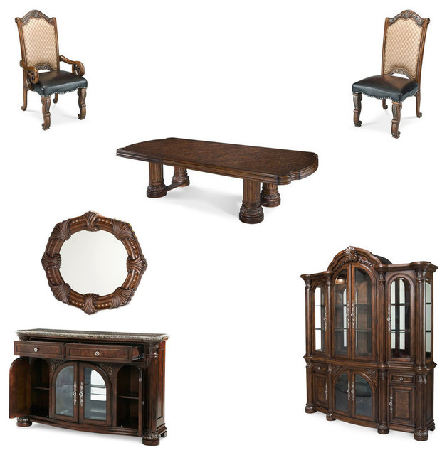 monte carlo ii 12 piece dining room set cafe noir michael amini monte carlo ii traditional luxury dining