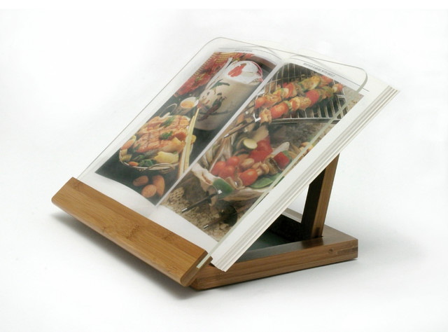Lipper international bamboo acrylic cook book holder view in your room houzz - Cream recipe book stand ...
