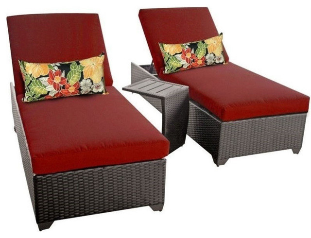 tk classic 2 wicker patio lounges with side table aruba