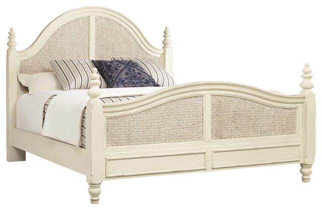 Hooker Furniture Bedroom Sandcastle Woven Panel Bed, King.