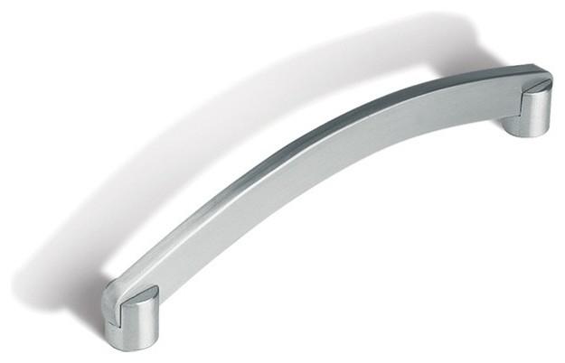 Cosmas Cabinet Hardware Flat Black Subtle Arch Handle Pull #2363-3.5FB