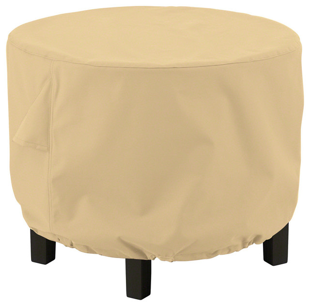 Round Ottoman Coffee Table Cover All Weather Protection Outdoor Furniture Contemporary Covers By Clic Accessories