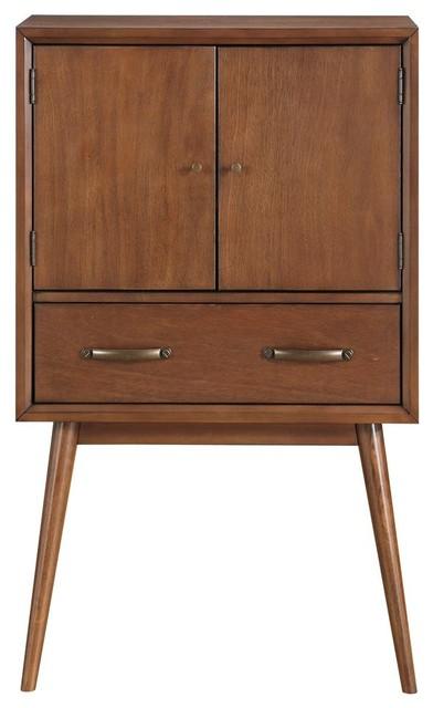 Draper Mid Century Modern Wine Cabinet Midcentury Wine And Bar Cabinets