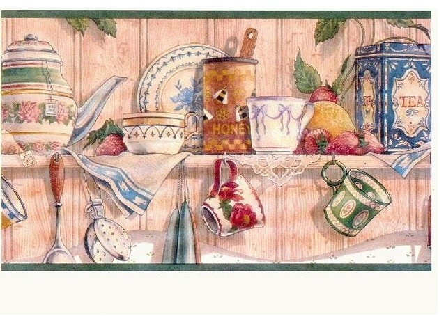 Wallpaper Border Kitchen Wallpaper Border Prepasted