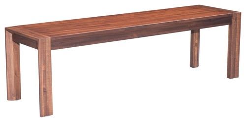 Zuo Modern 100589 Perth 62 Long Wood Urban Rustic Bench