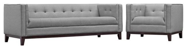2-Piece Serve Living Room Set, Light Gray.