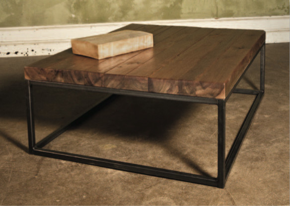 Reclaimed Barnwood Pine Timber Coffee Table Contemporary