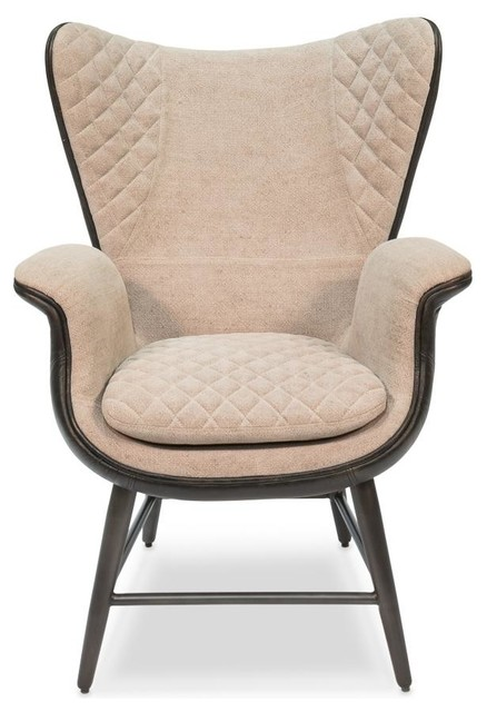 Admirable Justine Single Chair Leather Linen Beige Modern Creativecarmelina Interior Chair Design Creativecarmelinacom
