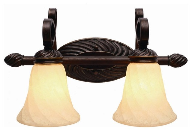 Bathroom Vanity Lights Traditional : Torbellino 2-Bulb Vanity Light - Traditional - Bathroom Vanity Lighting - by ShopLadder