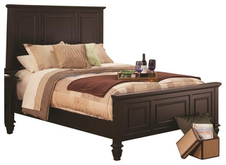 Coaster Sandy Beach Bed in Cappuccino Finish-California King Size - Transitional - Beds